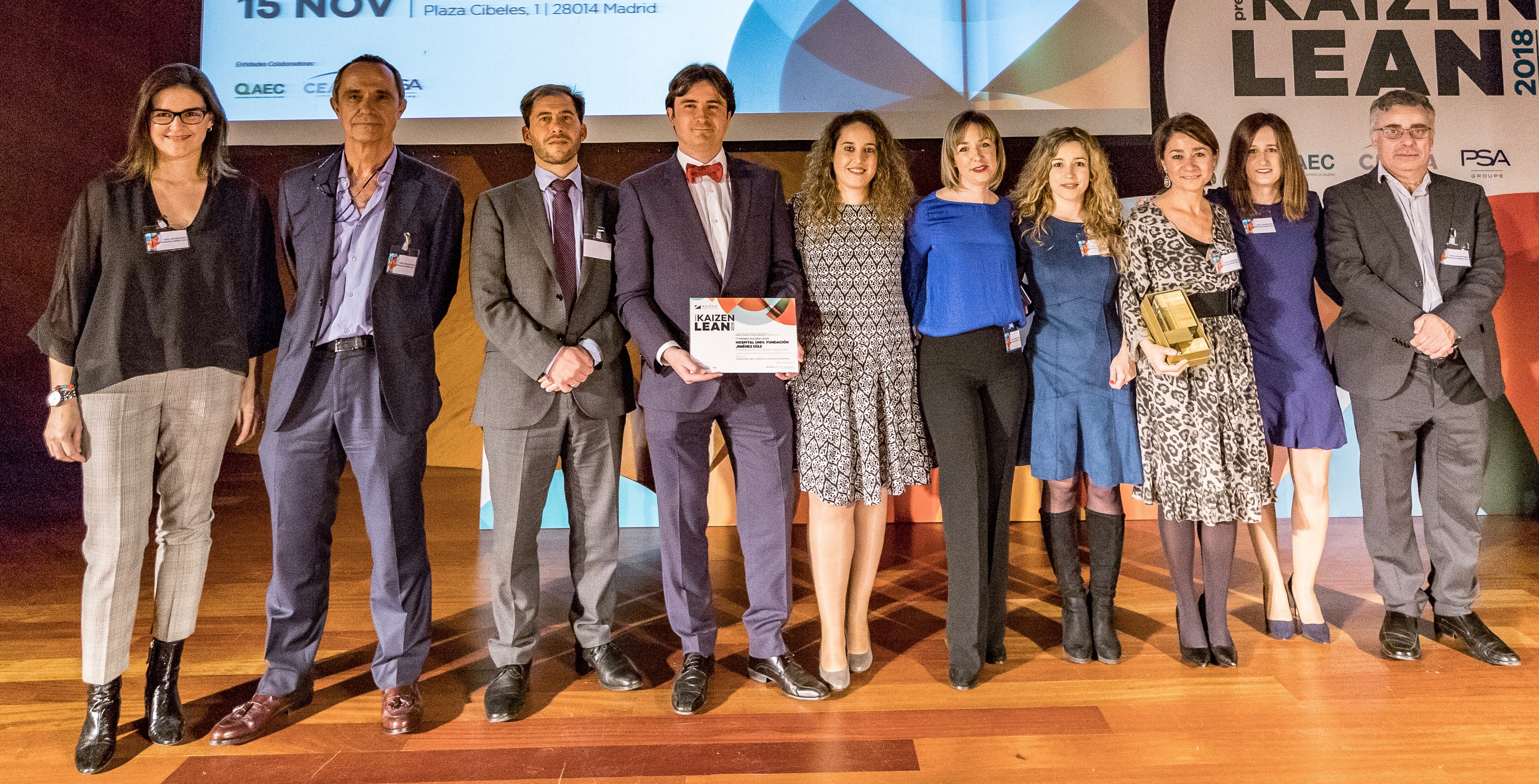Kaizen Institute Spain awarded Hospital Universitario Fundación Jiménez Díaz with the Premio KAIZEN™ Lean España 2018, Category: Excellence in Quality and Security
