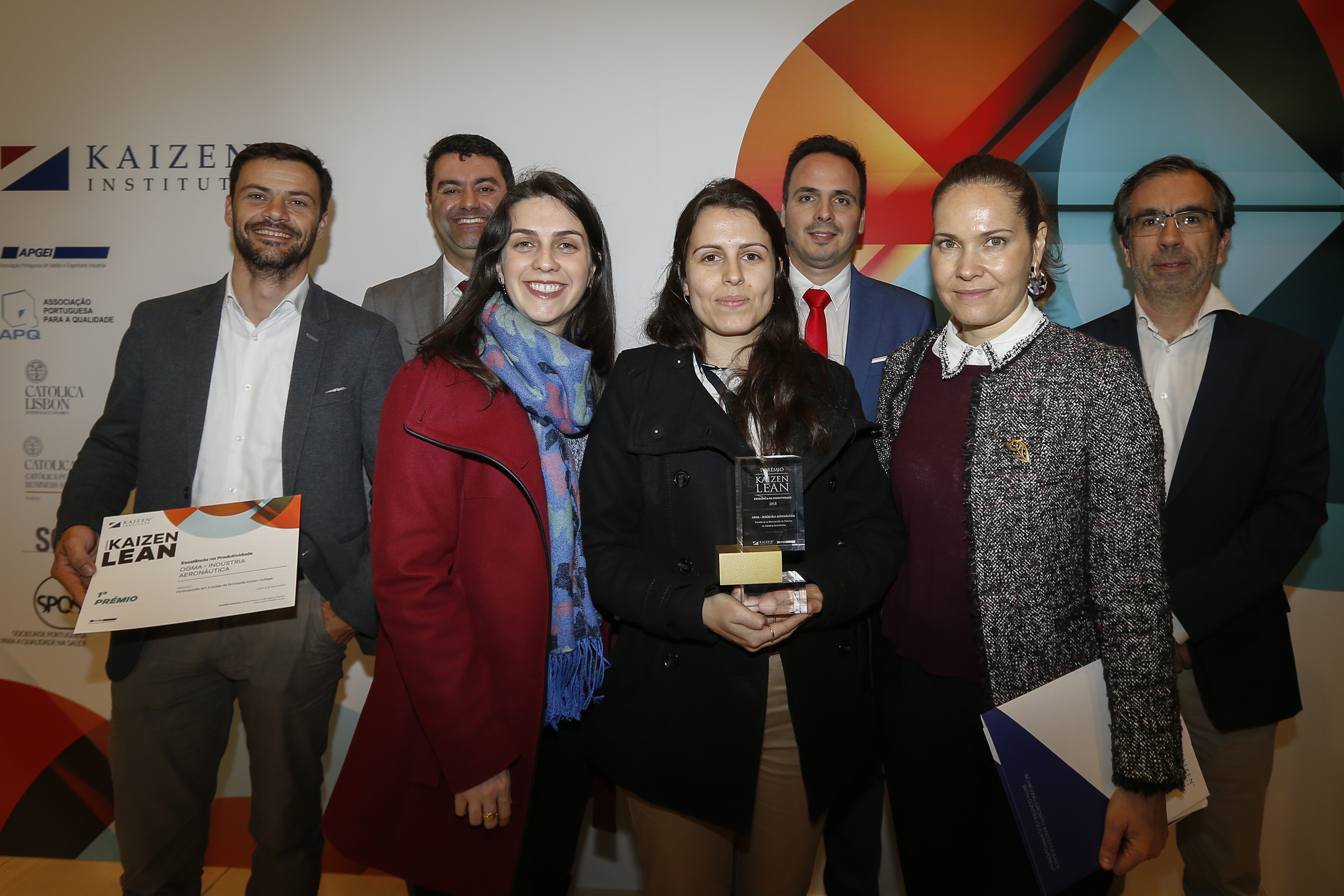 Kaizen Institute Portugal awarded Ogma with the Premio KAIZEN™ Lean Portugal 2018, Category: Excellence in Productivity